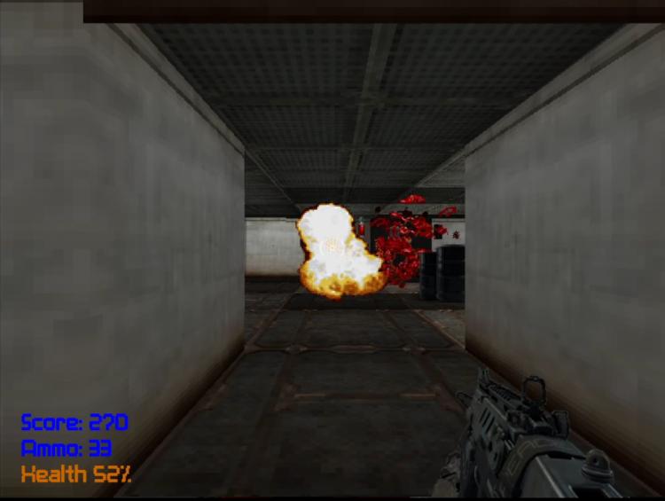 Blast C++ game engine — Explosive barrels
