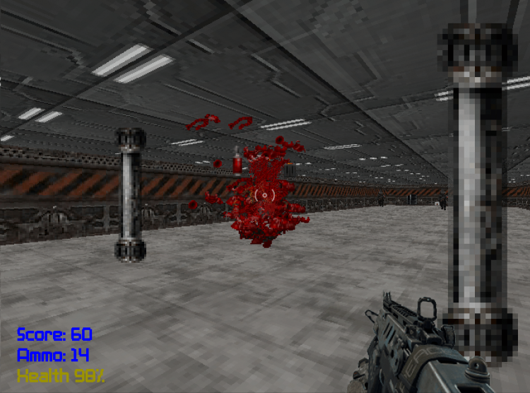 Blast C++ Ray Casting 3D Game Engine from scratch: Blood, Gore and Giblets.